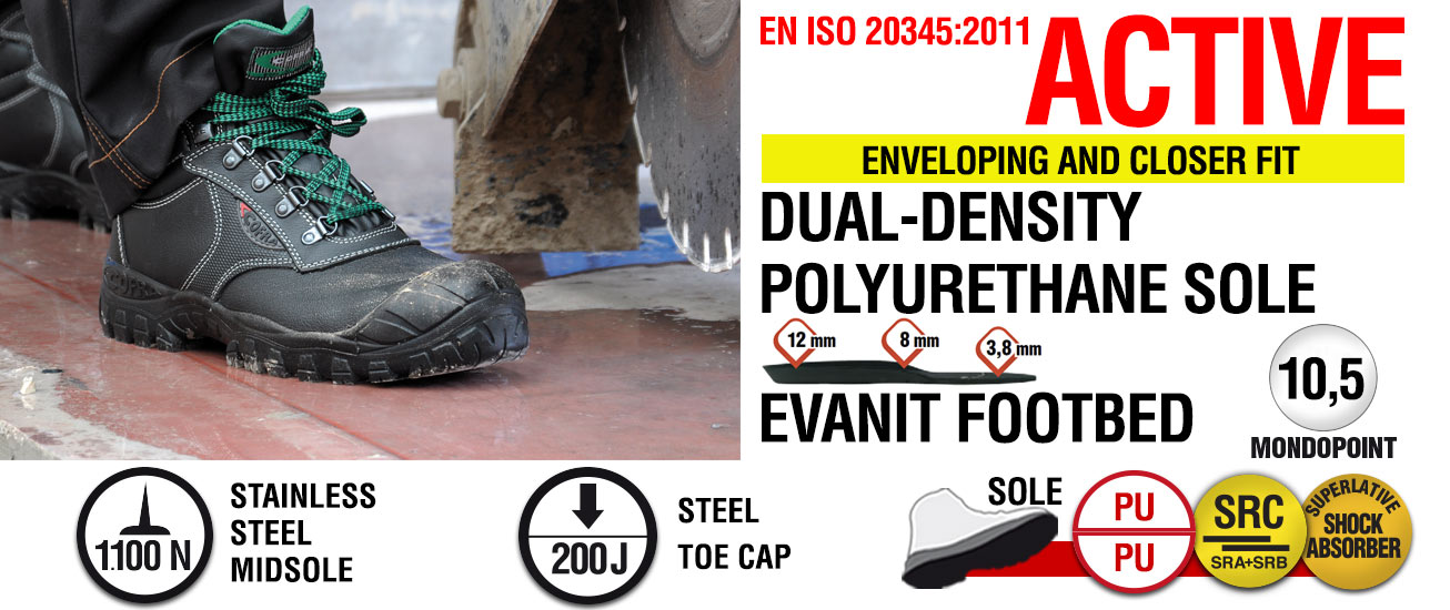 ACTIVE Schuhes PPE Products COFRA Safety footwear Workwear PPE Schuhes b7034f
